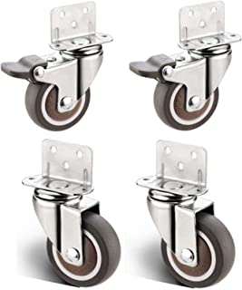 4pcs Furniture Casters L Type Splint Swivel Chair Office Chair Replace Universal Wheel,Cabinet Table Baby Cot Flower Stand...
