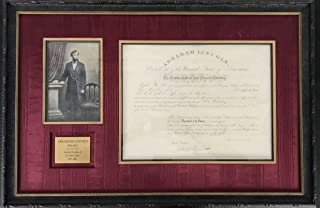 President Abraham Lincoln Signed Autographed 1861 Document Beckett BAS