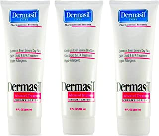 Dermasil Advanced Treatment Creamy Lotion Dry Skin Moistuizer and Protectant 8 Oz,3 Pack