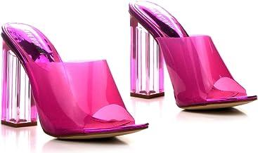 Amazon.com: Pink Clear Heels