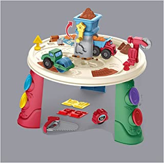 Engineering Theme Play Dough Toy Table Play Clay Set Tools Mold-35pcs