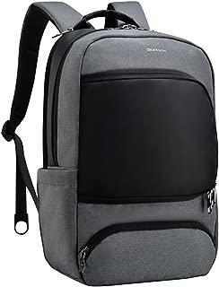 Kopack Laptop Backpack 15.6inch with Multiple-pocket/ Usb/ Anti-theft Slot Business Backpack Grey Black Creative Side-open Design