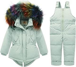 Hotmiss Baby Girls Winter 2 Piece Ski Jacket and Snowbib Snowsuit Outfit Set