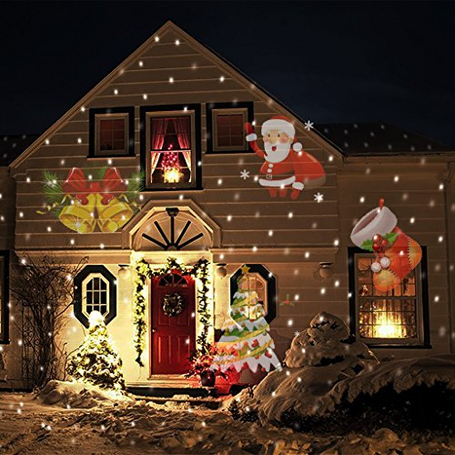LED Laser Christmas and Holiday Lights Projector for Outdoor & Indoor Use. Use All Year for Parties & Holidays!