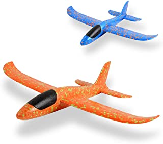 EPP Foam Airplane 2 Pcs,Outdoor Game Flying Toys for 3 4 5 6 7+ Year Old Boys Girls, Christmas Toys Gifts Present for Kids Children