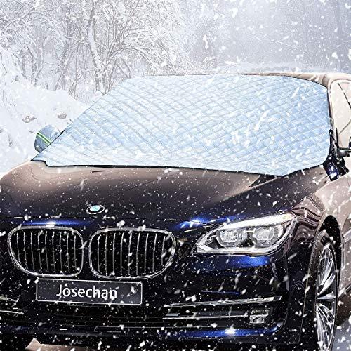IREGRO Frontscheibe Abdeckung, Auto Scheibenabdeckung Winterschutz Faltbare Abnehmbare Windschutzscheiben Autoabdeckung Winterabdeckung Eisschutzfolie für gegen Schnee Frost und Sonne