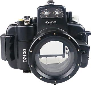 Sea Frogs Nikon D7100 用 水中カメラケース アンダーウォーターハウジング 防水性能40m 防水プロテクター 防水ケース 防水ハウジング 保護ケース 防水プロテクター 水中撮影用 国際防水等級IPX8 ブラック