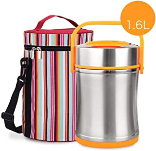 XJJZS Insulation lunch box - Vacuum Insulated Stackable Stainless Steel Thermal Lunch box Bento box Food Container with In...