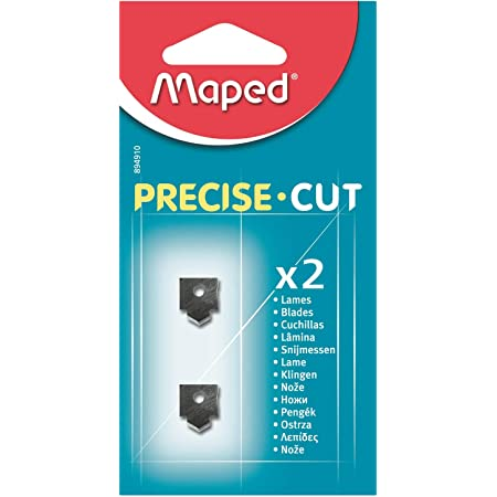 Maped - Lot de 2 Lames pour Massicot Precise Cut A4 - Lames de Rechange pour Rogneuse Maped Capacité de Coupe 5 Feuilles - Remplacement Facile - Pack de 2 Lames