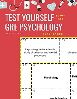Test Yourself 1000+ ETS GRE Psychology Flashcards: Study ETS GRE general Psychology test prep flash cards book
