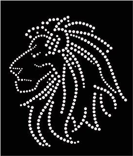 Lion Head Iron On Rhinestone Crystal T-Shirt Transfer by JCS Rhinestones