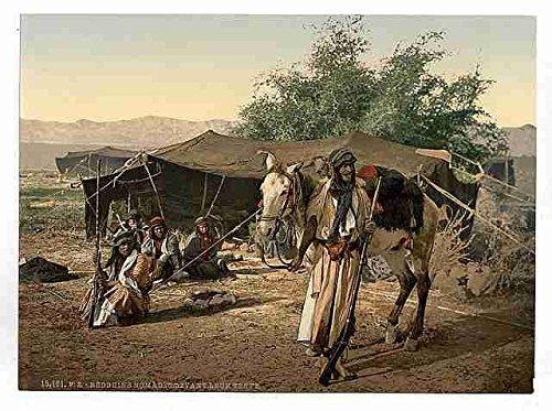 Metall Schild Beduinen und ihre Zelte A412x 8Alu Print