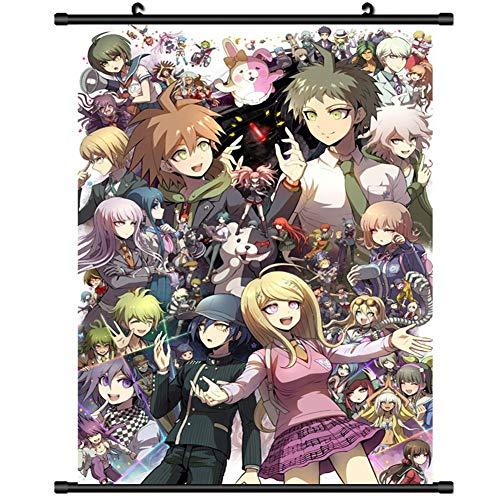 SGOT Anime Poster, Danganronpa Poster, Rollbild Kakemono aus Stoff Poster, Wanddekoration Wall Scroll Painting(60x90cm Style 01)