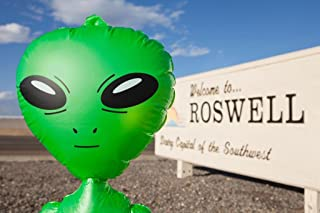 Green Alien Welcome to Roswell New Mexico Sign Photo Art Print Cool Huge Large Giant Poster Art 54x36