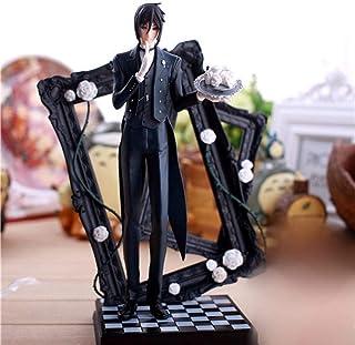 Fine Anime Statue 25 cm Latest Black Butler Kuroshitsuji Sebastian Game Anime Figura de acción PVC Toys