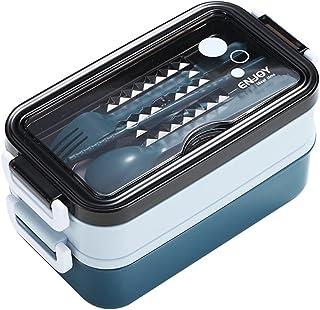Dracod Lunch Box, Boîte à Repas , Boite Bento pour Enfant & Adulte en 2 Etages, Boite Dejeuner Hermétique, Ecologique. Idé...