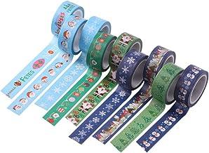Tomaibaby 9 Rollen Weihnachten Washi Tape Set Dekorative Fro