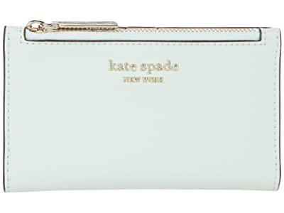 Kate Spade New York Spencer Small Slim Bifold Wallet (Crystal Blue) Wallet