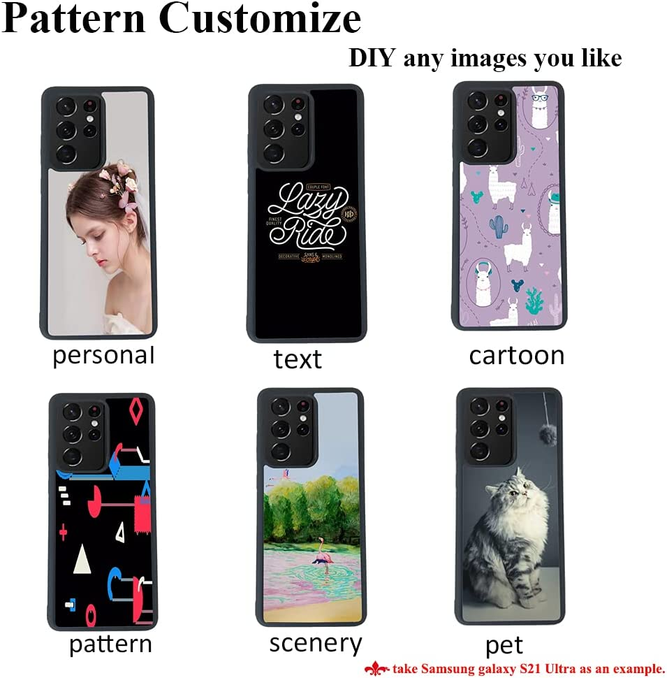 5PCS Compatible with Samsung Galaxy S20 FE 5G Case (2020) Sublimation Blanks Phone Case, 2 in 1 2D Soft Rubber TPU Blank DIY Customize Phone Case Cover Heat Press Glitter Finish