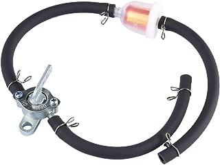 Yosoo para motocicleta universal Filtro de gasolina en l/ínea de aluminio 6 mm cuadriciclo