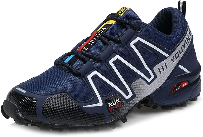 Yujingc Mens Walking Hiking Lace ups Trainer Sport shoes Running Sneakers Lightweight Work Climbing Trekking Tennis Large size 39-48