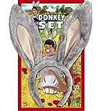 Panelize Esel Donkey Esel Set mit Schwanz Junggesellenabschied Eselohren Eselkostüm