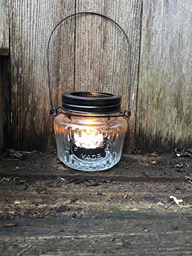 Mason Jar Set of 2 Tealight Holders tealight not included product image