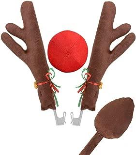 JOYIN Reindeer Antler Headband Set with LED red Nose and Gold Glasses ONE Size FIT All Joyin Inc