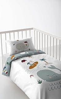 150x120cm for junior beds, 4 - Blue chevron//blue dots Babys Comfort REVERSIBLE 2pcs baby bedding set DUVET//QUILT COVER PILLOWCASE