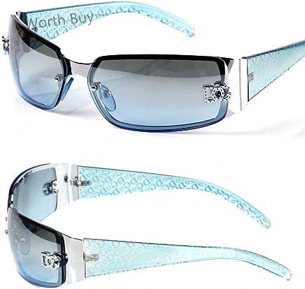 46c91f1d3d New DG Eyewear Womens Wrap Oval Rectangular Sunglasses Designer Shades  Fashion