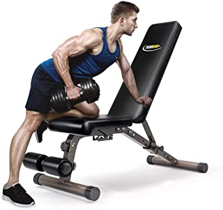 FEIERDUN Weight Bench, Adjustable Workout Bench with Incline & Decline, 700lb Weight Capacity Weight Benches, 1538MM Extended Size Utility Benches, Foldable No Assembly Need Benches