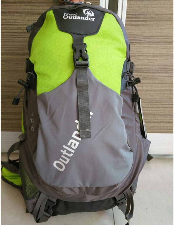 UICICI Ruckscke Nylon Reise Camping Klettern Wanderweg Freizeit Sport Multifunktionale Gepcktasche Neutral Geeignet für den Auenbereich (Farbe   Grün)