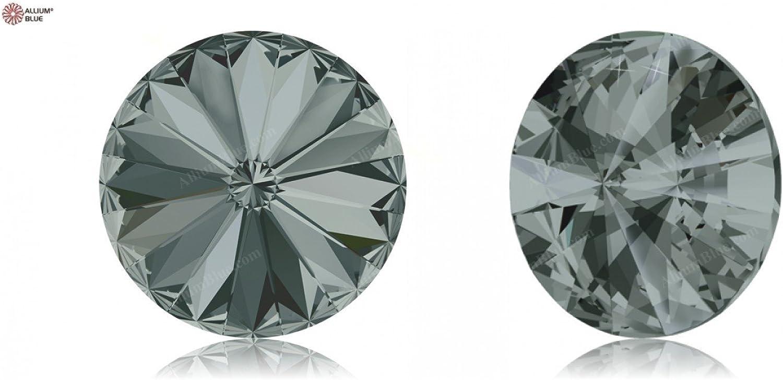 Swarovski Crystals 1037352 Round Stones 1122 MM 18,0 BLACK DIAMOND F, 72 Pieces