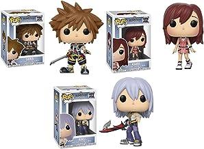 FunkoPOP Kingdom Hearts: Sora + Kairi + Riku – Stylized Video Game Disney Vinyl 3 Figure Bundle Set
