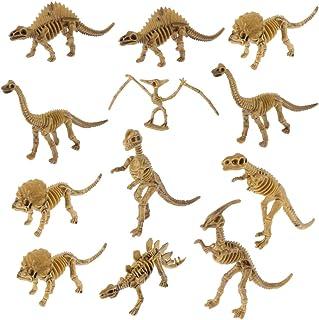 STOBOK 12Pcs Dinosaur Fossil Skeleton Figures Dino Bones Play Set For Boys Girls