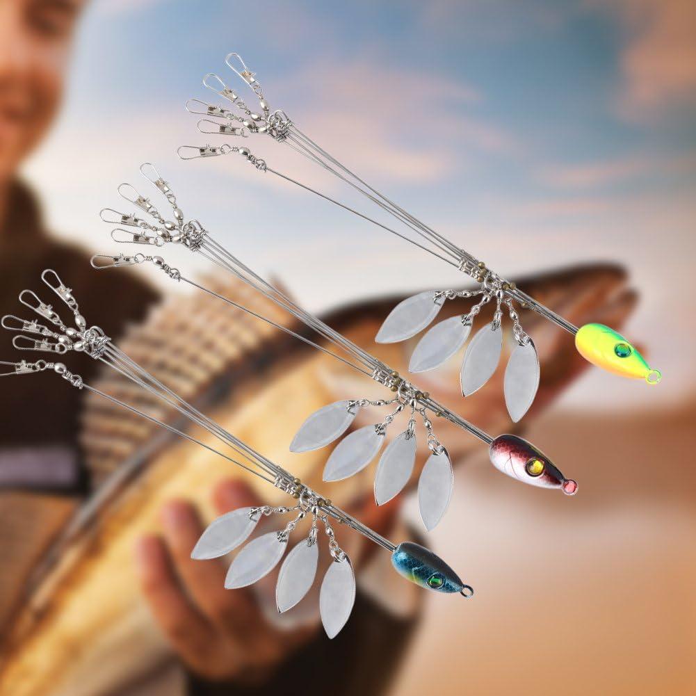 Zer one Plataformas de Paraguas Alabama con Cuchillas Brillantes y 5 Brazos y broches para se/ñuelos Accesorio de Pesca utilizable