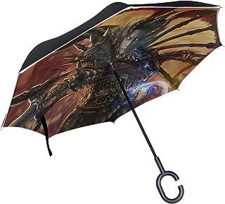 MJG Lu Bu Dynasty Warriors 8 Warrior Armor Spear Inverted Umbrella Large Double Layer Outdoor Rain Sun Car Reversible Umbrella