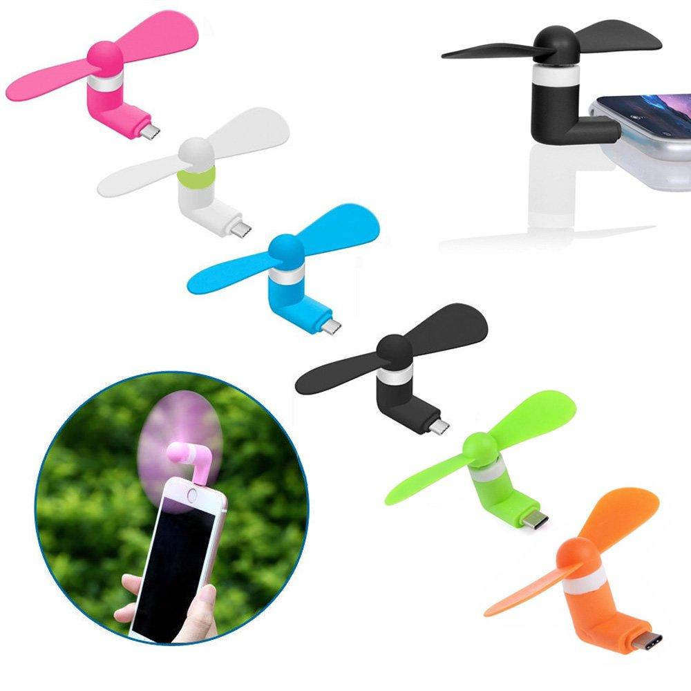 Type-C Ventilador de teléfono portátil, paquete de 6 mini ventiladores de refrigeración con conexión USB tipo C enfriador de teléfono móvil OTG ventilador: Amazon.es: Electrónica