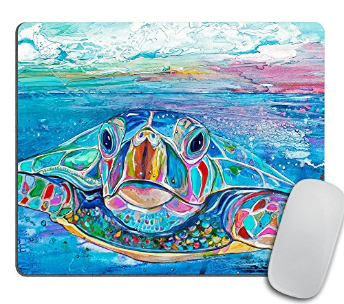 Sea Turtle Mouse Pad, Seaturtle Mouse Pad, Turtle Mouse Pad, Gift for Her, Beach House Decor - Rectangle