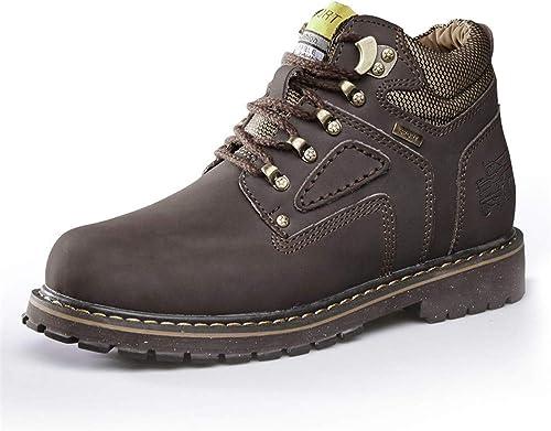 JIALUN-des JIALUN-des Chaussures Bottines Simples pour Hommes Décontracté Décontracté Round Top Top Haut Coton Chaud Chaussures de Travail Outsole (Conventional en Option) (Couleur   Marron foncé, Taille   43 EU)  livraison rapide