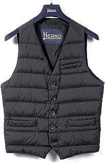 ヘルノ HERNO / 【国内正規品】 / 20-21AW!軽量マットナイロンシングルダウンジレ「PI002ULE(LEGEND)」 (ダークネイビー) メンズ