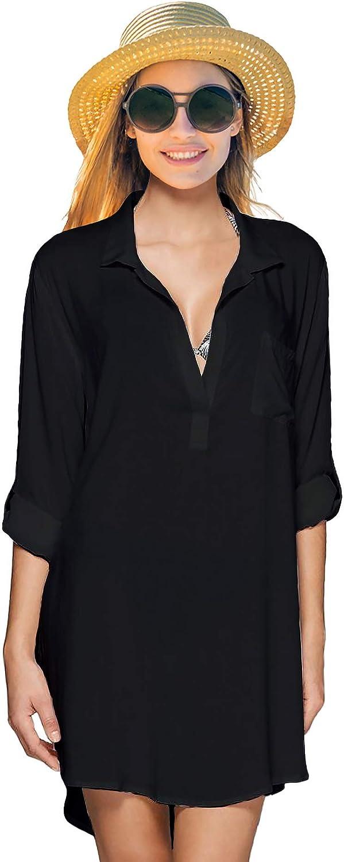 Bonniesty Beach Bathing Suit Cover Up for Swimwear Women Black