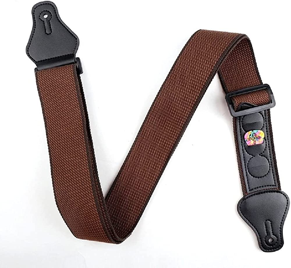 Adjustable Electric Max 69% OFF Guitar Strap with Picks 35% OFF Holders 3 PU