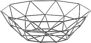 GXOK Geometric Fruit Vegetable Storage Rack Wire Basket Metal Bowl Kitchen Storage Desktop Display Rack[Ship from USA Directly] (Black)