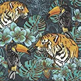 Paw Decor Collection 20 tovaglioli di carta per il pranzo Tiger Jungle tovaglioli 3 veli…