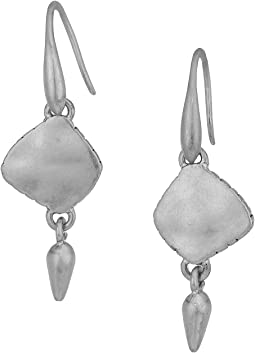 The Sak Metal Double Drop Earrings