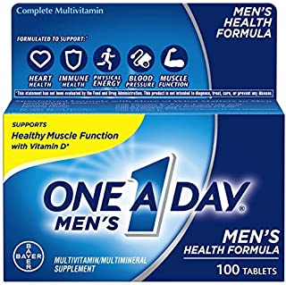 One A Day Men's Multivitamin, Supplement with Vitamins A, C, E, B1, B2, B6, B12, Calcium and Vitamin D, 100 count