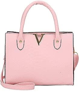 ChainSee Alligator Pattern Leather Messenger Crossbody Satchel Tote Handbag Shoulder Bag for Women Girl (Pink)