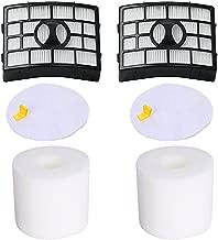 VacuumPal 2 Pack Foam & Felt Filter Kit for Shark NV755, UV795 Rotator Lift-Away Vacuum, Replacing Part # XFF750 & XHF750