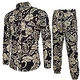 Malloom_Vêtements Malloom Chemise à Manches Longues Imprime pour Homme Noir FR:54(2XL)